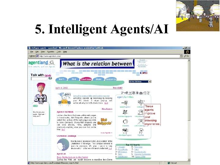 5. Intelligent Agents/AI