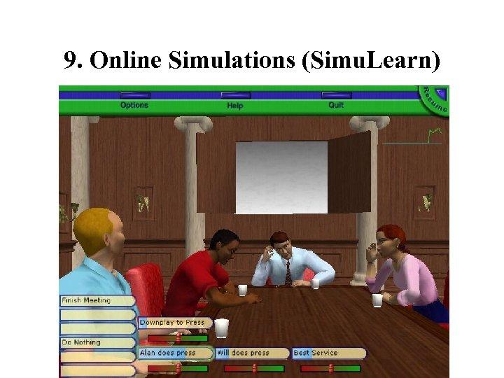 9. Online Simulations (Simu. Learn)