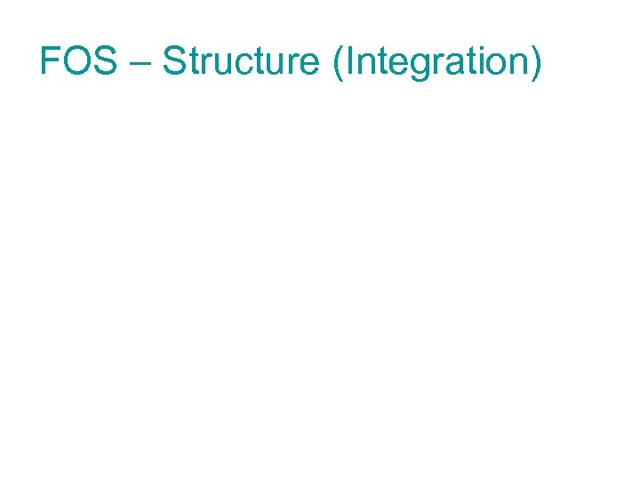 FOS – Structure (Integration)