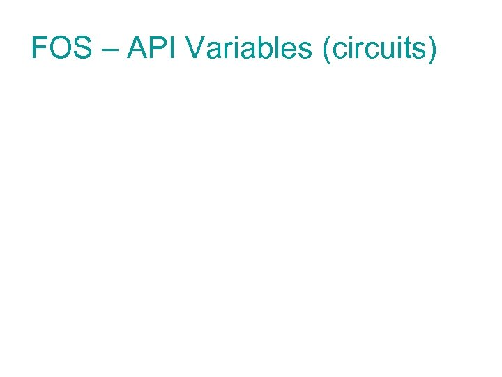 FOS – API Variables (circuits)