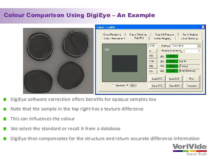 Colour Comparison Using Digi. Eye – An Example Digi. Eye software correction offers benefits