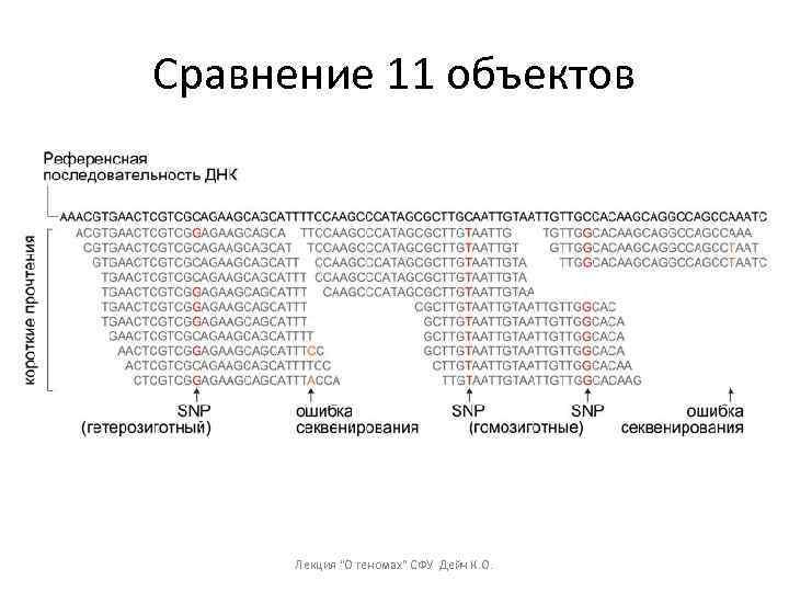 Сравнение 11 объектов Лекция