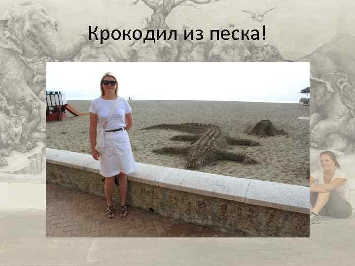 Крокодил из песка!