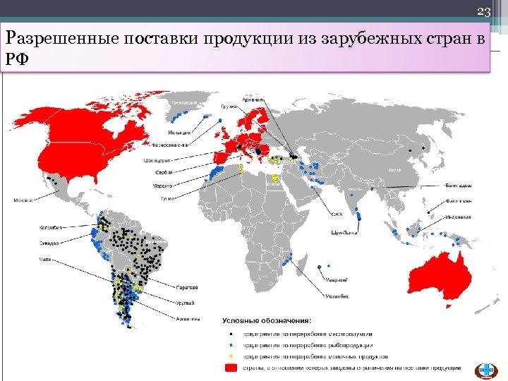 23 Разрешенные поставки продукции из зарубежных стран в РФ