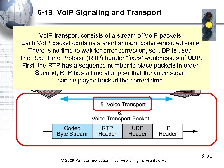 6 -18: Vo. IP Signaling and Transport Vo. IP transport consists of a stream