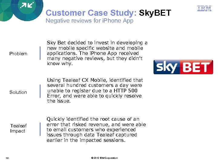 Customer Case Study: Sky. BET Negative reviews for i. Phone App Problem Solution Using