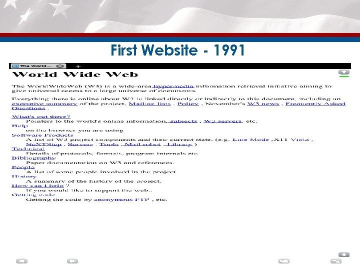 First Website - 1991