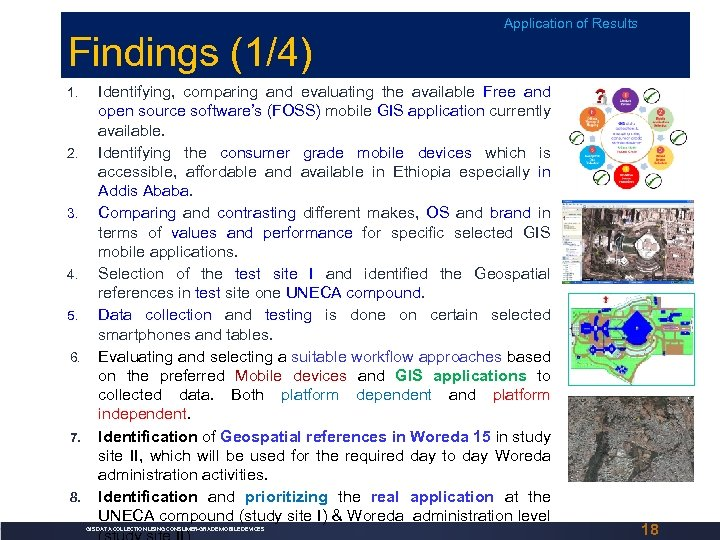Findings (1/4) 1. 2. 3. 4. 5. 6. 7. 8. Application of Results Identifying,