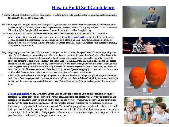 self confidence is an interpersonal for I'm referring to self-confidence we women have particular difficulty developing self-confidence we instinctively focus on everyone but ourselves so taking the time.