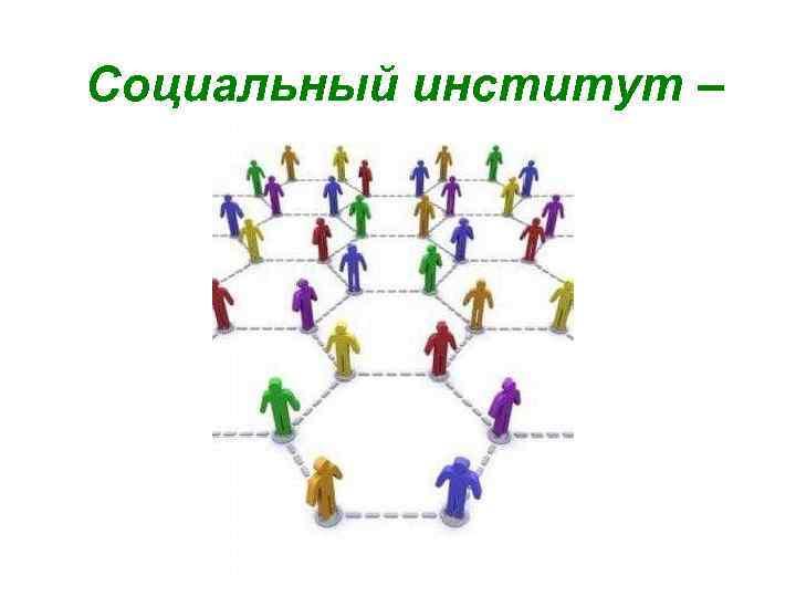 Социальный институт –