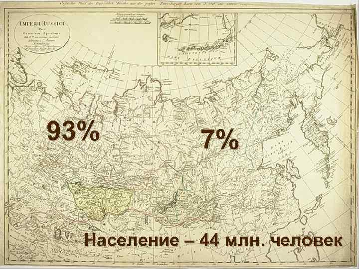 93% 7% Население – 44 млн. человек