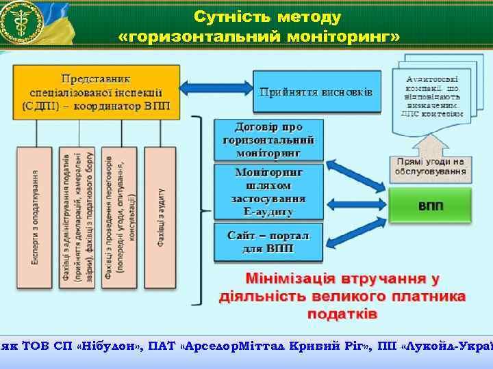 Сутність методу «горизонтальний моніторинг» як ТОВ СП «Нібулон» , ПАТ «Арселор. Міттал Кривий Ріг»
