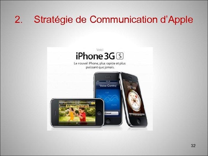 2. Stratégie de Communication d'Apple 32