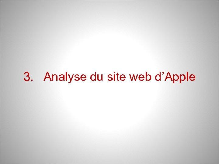 3. Analyse du site web d'Apple