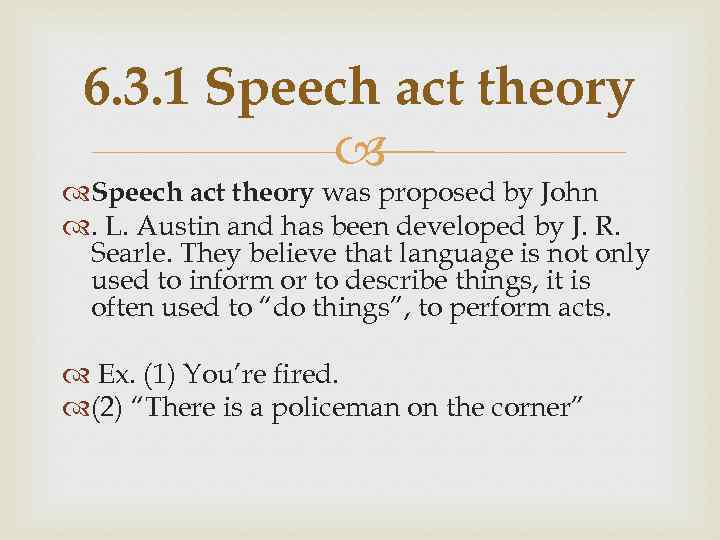 austin and searle speech act theory
