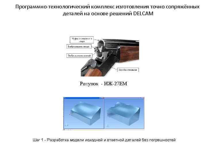 Программно-технологический комплекс изготовления точно сопряжённых деталей на основе решений DELCAM Рисунок - ИЖ-27 ЕМ