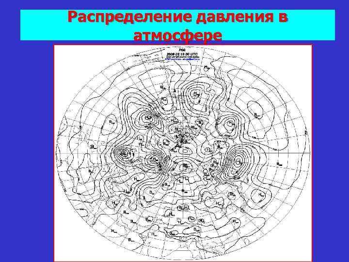 Распределение давления в атмосфере