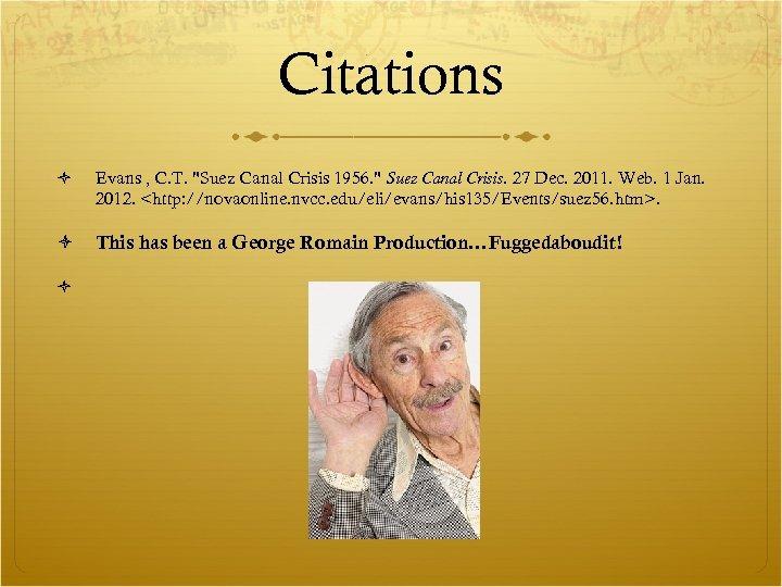 Citations Evans , C. T.