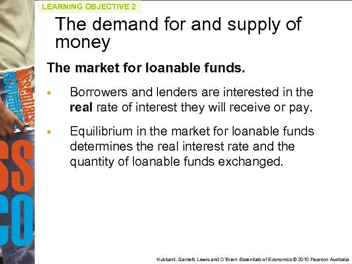 LEARNING OBJECTIVE 2 The demand for and supply of money The market for loanable