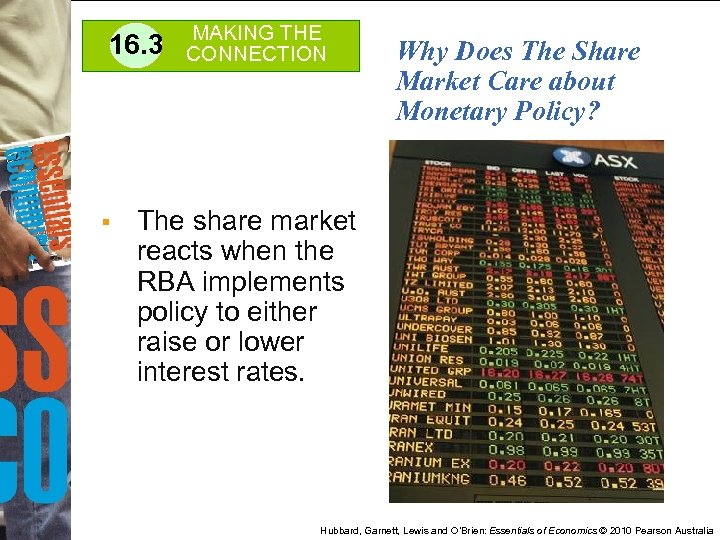 16. 3 § MAKING THE CONNECTION Why Does The Share Market Care about Monetary