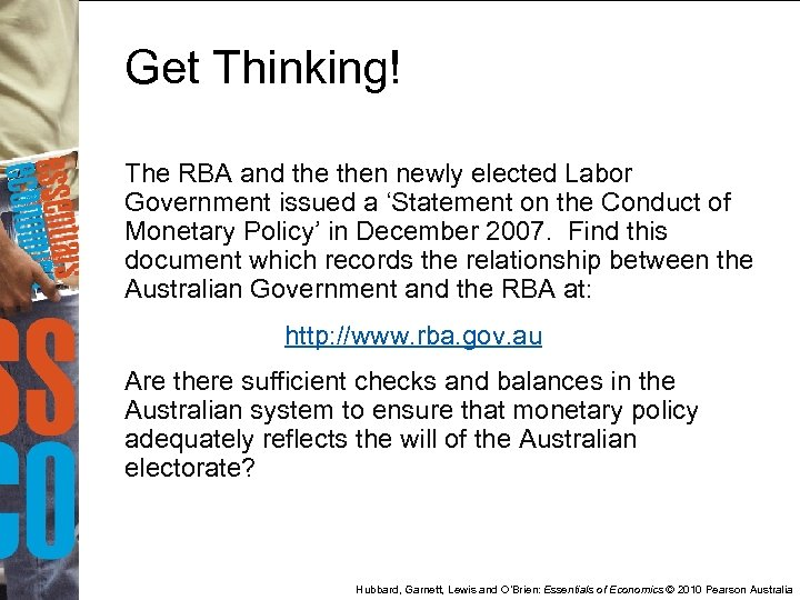 Get Thinking! The RBA and then newly elected Labor Government issued a 'Statement on