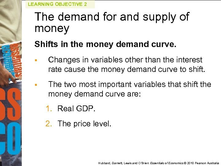 LEARNING OBJECTIVE 2 The demand for and supply of money Shifts in the money