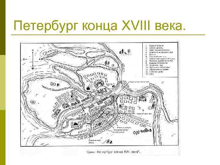 Петербург конца XVIII века.