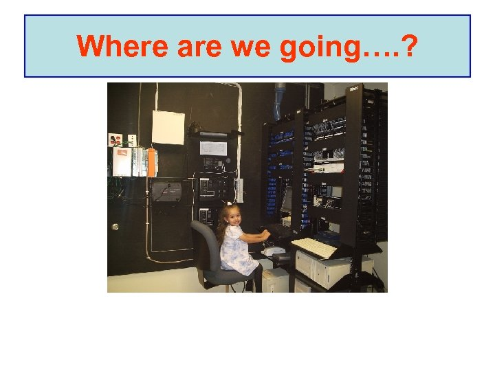 Where are we going…. ?