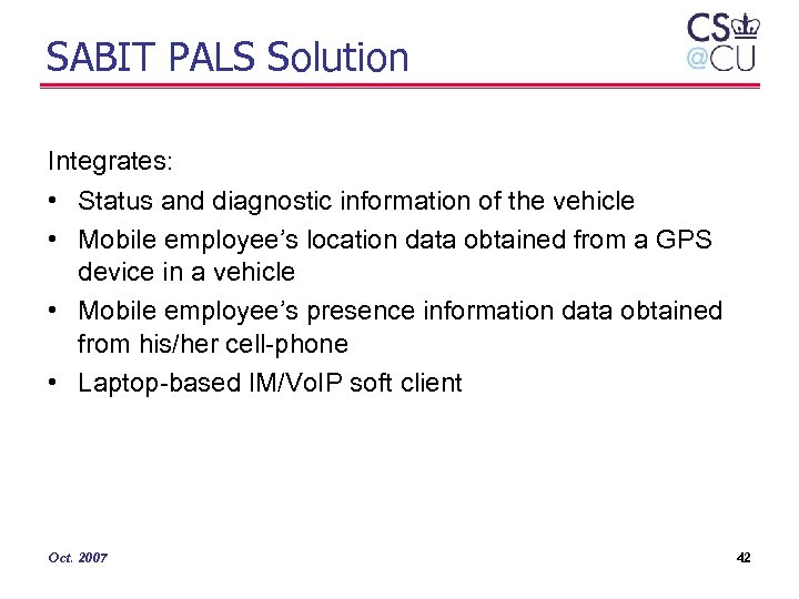 SABIT PALS Solution Integrates: • Status and diagnostic information of the vehicle • Mobile