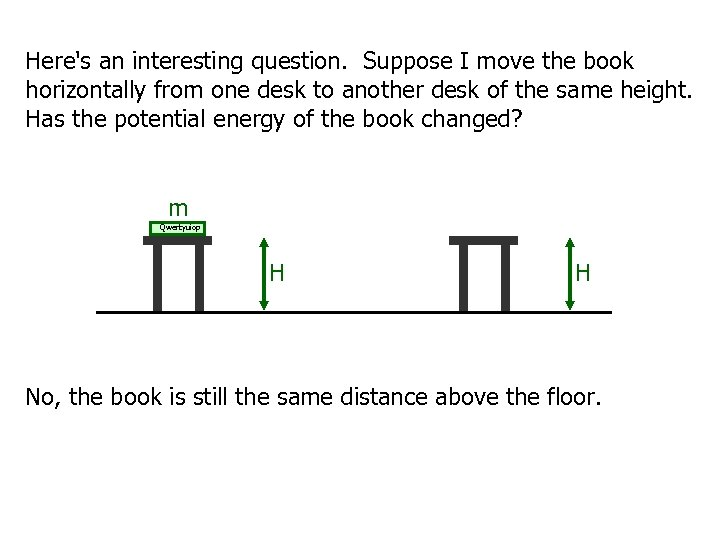 Here's an interesting question. Suppose I move the book horizontally from one desk to