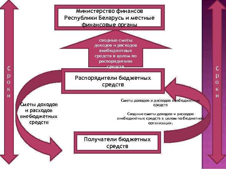 Министерство финансов Республики Беларусь и местные финансовые органы сводные сметы доходов и расходов внебюджетных