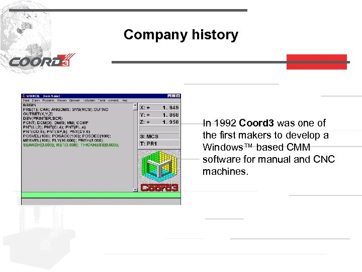 Company history In 1992 Coord 3 was one of the first makers to develop