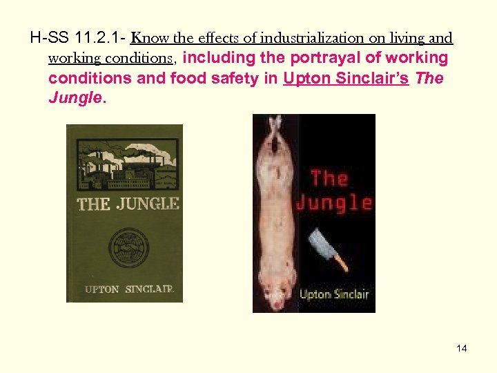 H-SS 11. 2. 1 - Know the effects of industrialization on living and working