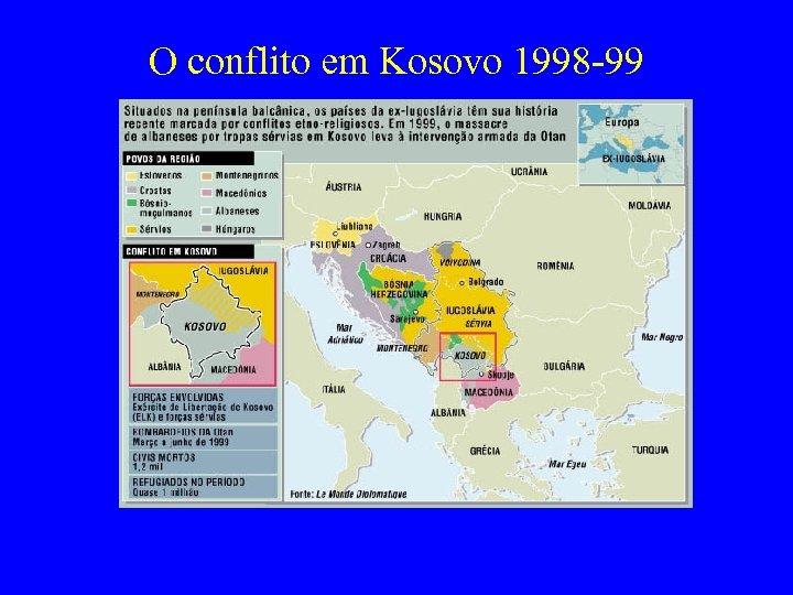 O conflito em Kosovo 1998 -99