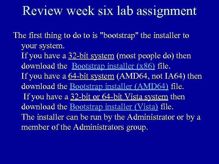 Review week six lab assignment The first thing to do to is
