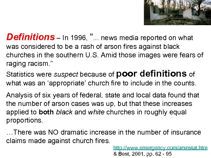 """Definitions – In 1996, """". . . news media reported on what was considered"""