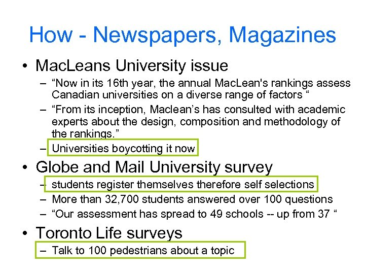 """How - Newspapers, Magazines • Mac. Leans University issue – """"Now in its 16"""