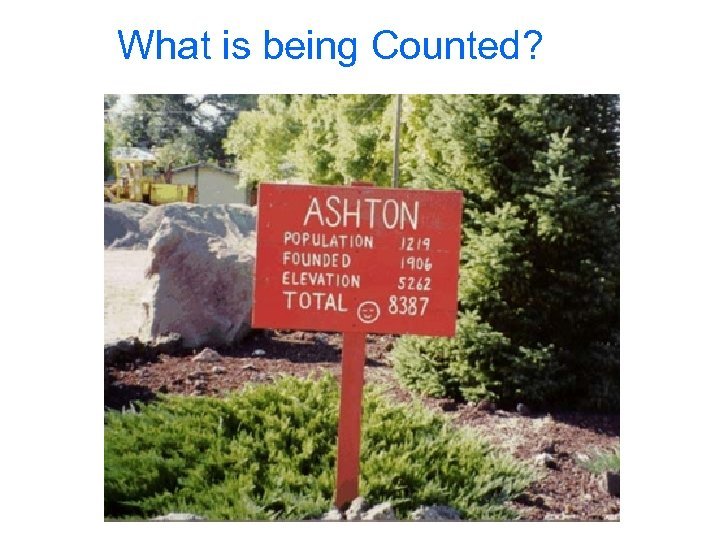 What is being Counted?