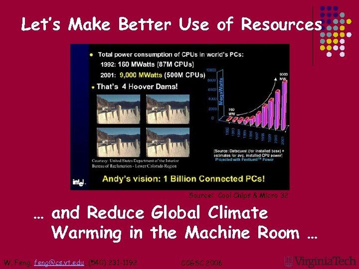 Let's Make Better Use of Resources Source: Cool Chips & Micro 32 … and
