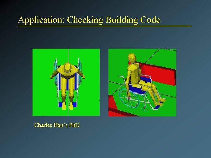 Application: Checking Building Code Charles Han's Ph. D