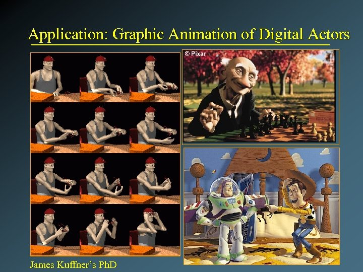 Application: Graphic Animation of Digital Actors James Kuffner's Ph. D