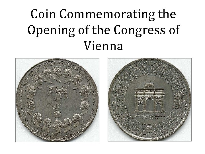 Coin Commemorating the Opening of the Congress of Vienna