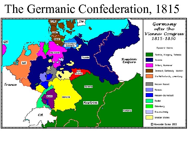 The Germanic Confederation, 1815