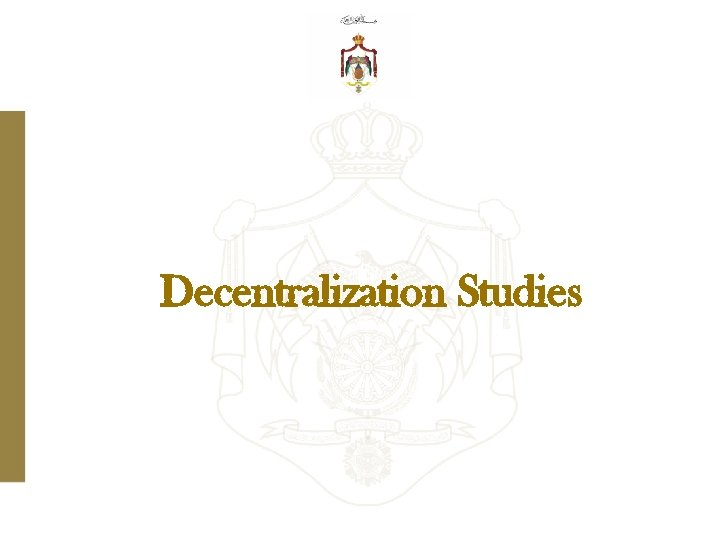 Decentralization Studies