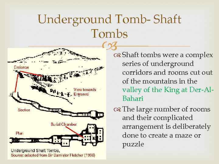 Underground Tomb- Shaft Tombs Shaft tombs were a complex series of underground corridors and