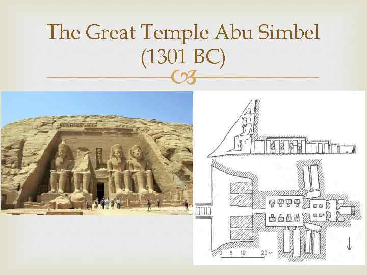 The Great Temple Abu Simbel (1301 BC)