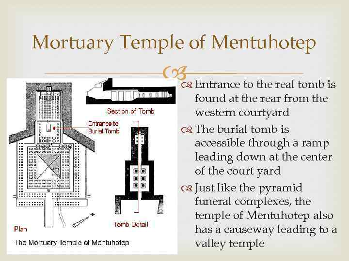 Mortuary Temple of Mentuhotep Entrance to the real tomb is found at the rear