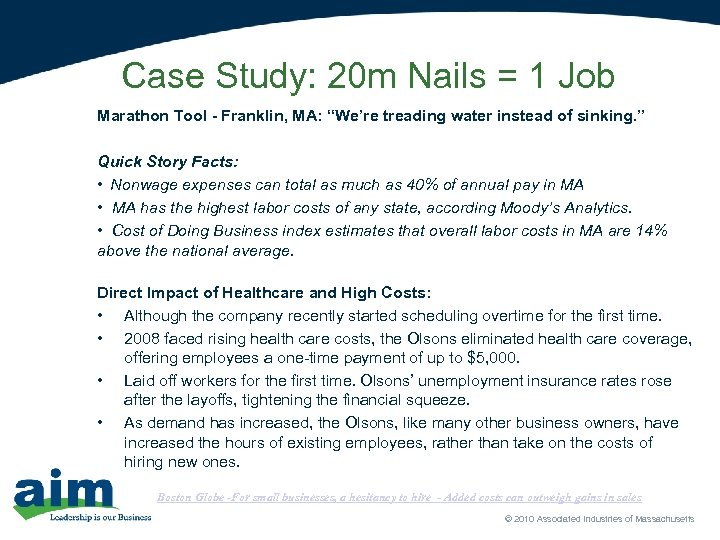 "Case Study: 20 m Nails = 1 Job Marathon Tool - Franklin, MA: ""We're"