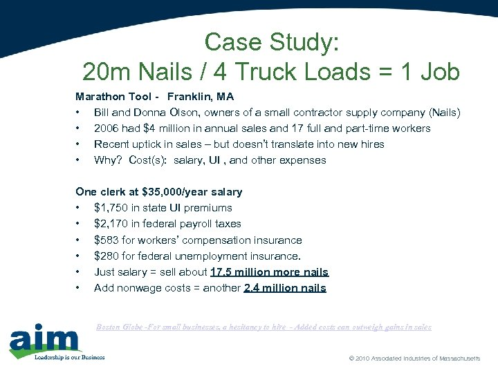 Case Study: 20 m Nails / 4 Truck Loads = 1 Job Marathon Tool