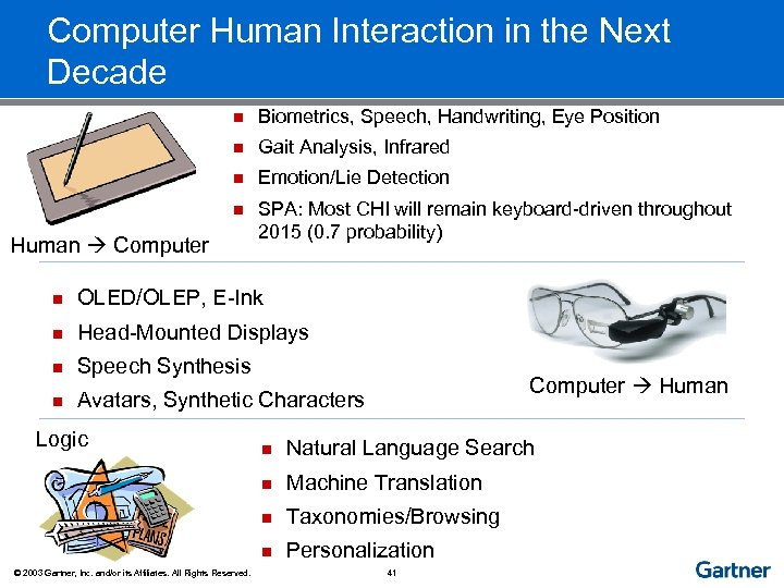 Computer Human Interaction in the Next Decade n Biometrics, Speech, Handwriting, Eye Position n